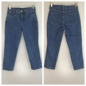 NYDJ Womens Size 6 Cropped Jeans Lift Tuck Tech